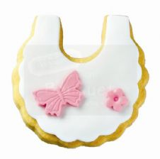 Cookie bib with butterfly / Μπισκότο σαλιάρα με πεταλούδα